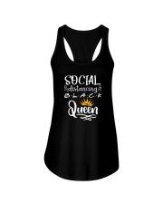 SOCIAL DISTANCING BLACK QUEEN Ladies Flowy Tank thumbnail