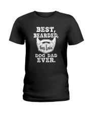 BEST BEARDED BEER LOVIN' DOG DAD EVER Ladies T-Shirt thumbnail