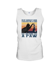 I REACHED FOR A HAND AND FOUND A PAW Unisex Tank thumbnail