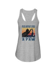 I REACHED FOR A HAND AND FOUND A PAW Ladies Flowy Tank thumbnail
