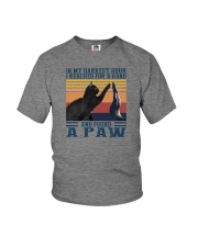 I REACHED FOR A HAND AND FOUND A PAW Youth T-Shirt thumbnail