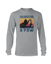I REACHED FOR A HAND AND FOUND A PAW Long Sleeve Tee thumbnail