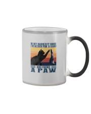 I REACHED FOR A HAND AND FOUND A PAW Color Changing Mug thumbnail