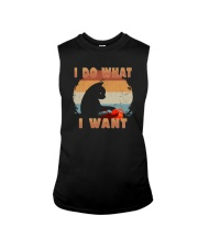 I DO WHAT I WANT VINTAGE CAT Sleeveless Tee tile