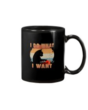I DO WHAT I WANT VINTAGE CAT Mug thumbnail