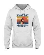 I HATE MORNING PEOPLE CHICKEN Hooded Sweatshirt thumbnail