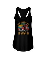 BEST TRUCKIN' DAD EVER VINTAGE Ladies Flowy Tank thumbnail