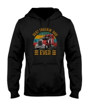 BEST TRUCKIN' DAD EVER VINTAGE Hooded Sweatshirt thumbnail