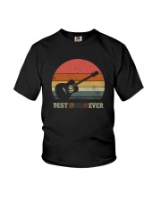 BEST GUITAR DAD EVER VINTAGE Youth T-Shirt thumbnail