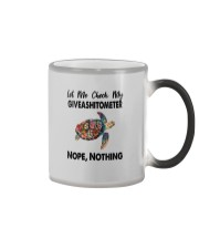 GIVEASHITOMETER NOPE NOTHING TURTLE Color Changing Mug thumbnail