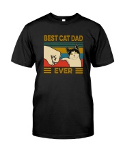 BEST CAT DAD EVER VINTAGE Classic T-Shirt front