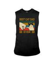BEST CAT DAD EVER VINTAGE Sleeveless Tee thumbnail