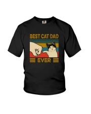 BEST CAT DAD EVER VINTAGE Youth T-Shirt thumbnail