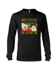 BEST CAT DAD EVER VINTAGE Long Sleeve Tee thumbnail