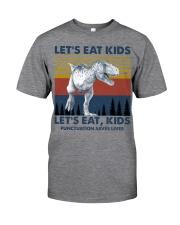 LET'S EAT KIDS DINOSAUR Classic T-Shirt front
