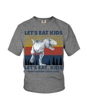 LET'S EAT KIDS DINOSAUR Youth T-Shirt thumbnail