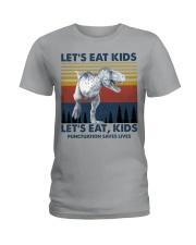 LET'S EAT KIDS DINOSAUR Ladies T-Shirt thumbnail