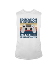 EDUCATION IS IMPORTANT GAMING IS IMPORTANTER Sleeveless Tee thumbnail