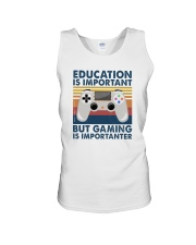 EDUCATION IS IMPORTANT GAMING IS IMPORTANTER Unisex Tank thumbnail