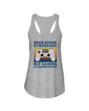 EDUCATION IS IMPORTANT GAMING IS IMPORTANTER Ladies Flowy Tank thumbnail