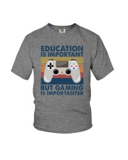 EDUCATION IS IMPORTANT GAMING IS IMPORTANTER Youth T-Shirt thumbnail