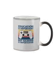 EDUCATION IS IMPORTANT GAMING IS IMPORTANTER Color Changing Mug thumbnail