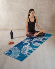 BLUE ELEPHANTS MANDALA Yoga Mat 70x24 (horizontal) aos-yoga-mat-lifestyle-18