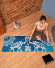 BLUE ELEPHANTS MANDALA Yoga Mat 70x24 (horizontal) aos-yoga-mat-lifestyle-19