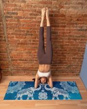BLUE ELEPHANTS MANDALA Yoga Mat 70x24 (horizontal) aos-yoga-mat-lifestyle-20