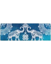 BLUE ELEPHANTS MANDALA Yoga Mat 70x24 (horizontal) front
