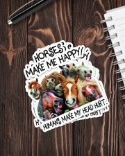 HORSES MAKE ME HAPPY Sticker - 4 pack (Vertical) aos-sticker-4-pack-vertical-lifestyle-front-05