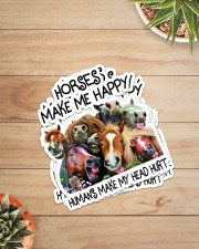 HORSES MAKE ME HAPPY Sticker - 4 pack (Vertical) aos-sticker-4-pack-vertical-lifestyle-front-07