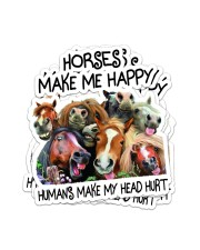 HORSES MAKE ME HAPPY Sticker - 4 pack (Vertical) front