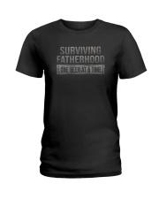 SURVIVING FATHERHOOD ONE BEER AT TIME Ladies T-Shirt thumbnail
