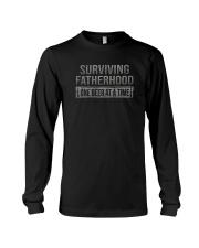 SURVIVING FATHERHOOD ONE BEER AT TIME Long Sleeve Tee thumbnail