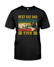 BEST CAT DAD EVER SIAMESE Classic T-Shirt front