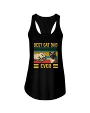 BEST CAT DAD EVER SIAMESE Ladies Flowy Tank thumbnail