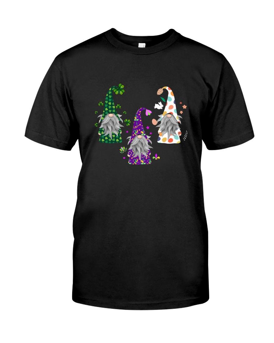 GNOMES COSTUME MARDI GRAS ST PATRICK EASTER Classic T-Shirt