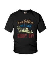 I'VE FALLEN AND I CAN'T GIDDY UP Youth T-Shirt thumbnail