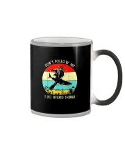 DON'T FOLLOW ME SCUBA DIVING Color Changing Mug thumbnail