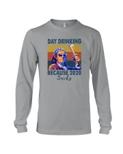 DAY DRINKING BECAUSE 2020 SUCKS BEN DRANKIN Long Sleeve Tee thumbnail