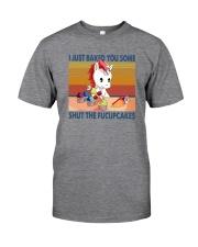 SHUT THE FUCUPCAKES UNICORN Classic T-Shirt front