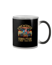FIREWORKS DIRECTOR I RUN YOU RUN a Color Changing Mug thumbnail