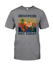 NOPE NOTHING RED PANDA Classic T-Shirt front