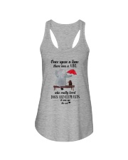 girl love dogs and elephants Ladies Flowy Tank thumbnail