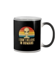 I DON'T BELIEVE IN HUMANS Color Changing Mug thumbnail