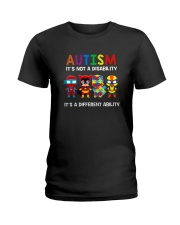 AUTISM IT'S A DIFFERENT ABILITY Ladies T-Shirt thumbnail