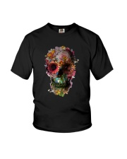 FLORAL SUGAR SKULL Youth T-Shirt thumbnail