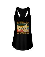 BEST PITBULL DAD EVER Ladies Flowy Tank thumbnail