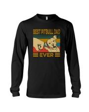 BEST PITBULL DAD EVER Long Sleeve Tee thumbnail